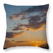 Sunset Farm Throw Pillow