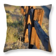 Sunset Fence Throw Pillow