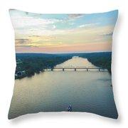 Sunset Ferry  Throw Pillow