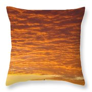 Sunset Fiery Orange Sunset Art Prints Sky Clouds Giclee Baslee Troutman Throw Pillow