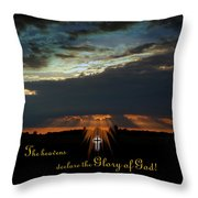Sunset Finished Throw Pillow