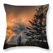 Sunset Fire Throw Pillow