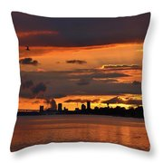 Sunset Flight Of The Tern Throw Pillow