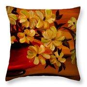 Sunset Floral Throw Pillow
