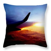 Sunset Flying Throw Pillow