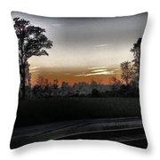 Sunset Fog Throw Pillow