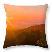 Sunset Fog Over The Pacific #1 Throw Pillow