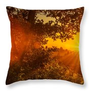 Sunset Fog Over The Pacific #3 Throw Pillow
