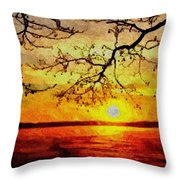 Sunset For Abigail Browne H B Throw Pillow