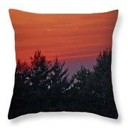 Sunset From Bear Path Throw Pillow