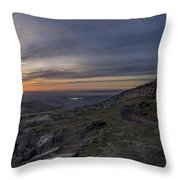 Sunset From Commedagh Throw Pillow