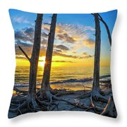 Sunset From Lovers Key, Florida Throw Pillow
