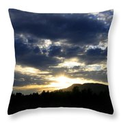 Sunset From Mcarthur Island Throw Pillow