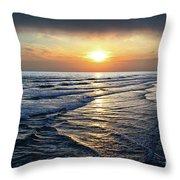 Sunset From Newport Beach Pier Throw Pillow