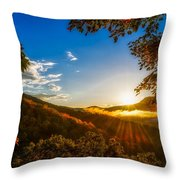 Sunset From The Blue Ridge Parkway Throw Pillow