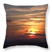 Sunset From The Blue Ridge Parkway Ll Throw Pillow