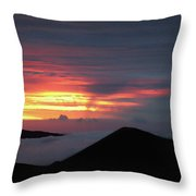 Sunset From The Observatory Throw Pillow