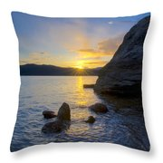 Sunset From Tubbs Hill Throw Pillow