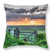 Sunset Gate Throw Pillow