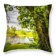 Sunset Gazebo Throw Pillow