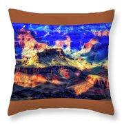 Sunset Glow At Mather Point Throw Pillow