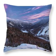 Sunset Glow Over Cannon Mountain Throw Pillow