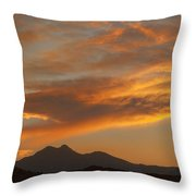 Sunset Glow Over The Twin Peaks Throw Pillow