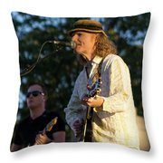 Sunset Glow With Cool Music Throw Pillow