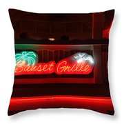 Sunset Grille Throw Pillow