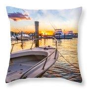 Sunset Harbor Throw Pillow