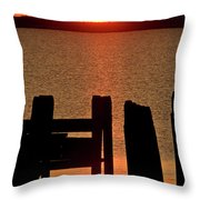 Sunset Hecla Island Manitoba Canada Throw Pillow