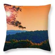 Sunset Hills Throw Pillow