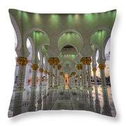 Sunset Hindu Temple Throw Pillow