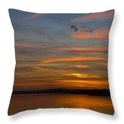 Sunset Hoo England Throw Pillow