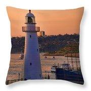 Sunset Hues Cockle Bay Wharf Throw Pillow