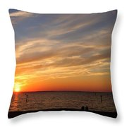 Sunset Huntingon Park Throw Pillow