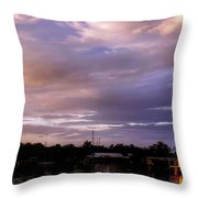 Sunset Hut Throw Pillow