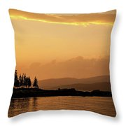 Sunset In Acadia  Throw Pillow