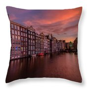 Sunset In Amsterdam Throw Pillow