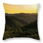 Sunset In Appalachia Throw Pillow