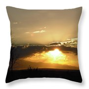 Sunset In Apple Valley, Ca Throw Pillow