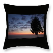 Sunset In Avgonyma Throw Pillow