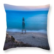 Sunset In Blue  Throw Pillow