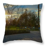 Sunset In Brooklyn  Throw Pillow