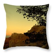 Sunset In Bryce Canyon Throw Pillow