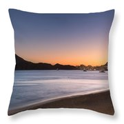 Sunset In Cabo Throw Pillow