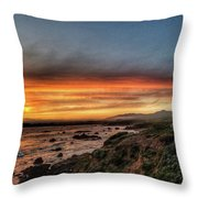 Sunset In Cambria Throw Pillow