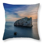 Sunset In Capo Caccia Throw Pillow