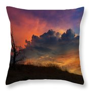 Sunset In Central Oregon Throw Pillow
