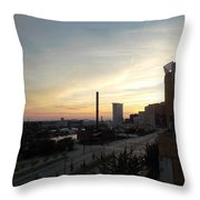 Sunset In Cleveland Throw Pillow